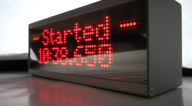 Start- Stop Zeitmessung mit DOT Matrix Display und WLAN Anbindung