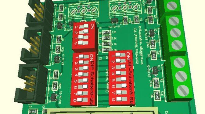 Controllino Erweiterung für 8 x 1-Wire Sensoren oder Analogeigänge