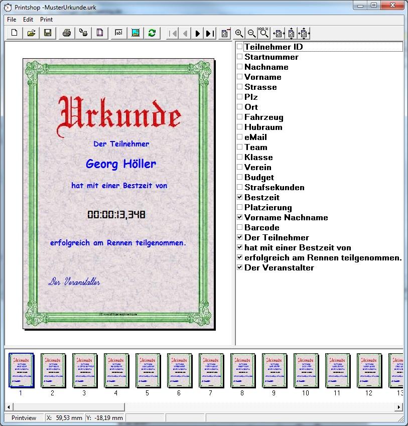 Urkunden für Teilnehmer automatisiert erstellen